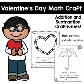 Valentine's Day Addition and Subtraction Activities