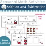 Valentine's Day Addition and Subtraction Boom Decks