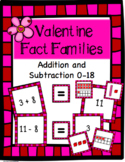 Valentine's Day Addition and Subtraction Fact Family Math Centers