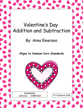 Valentine's Day Addition and Subtraction Practice