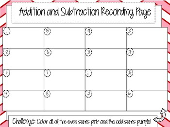Valentine's Day Addition and Subtraction QR Task Cards