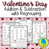 Valentine's Day Addition and Subtraction with Regrouping J