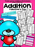 Valentine's Day Addition using a Number line {Kindergarten}