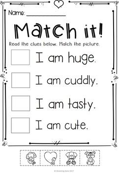 Valentine's Day Adjectives Printables & Worksheets