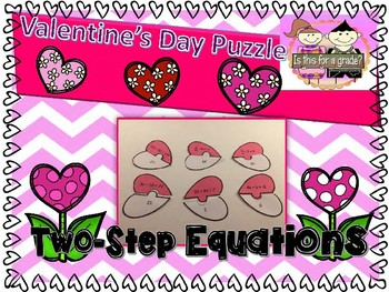 Valentine's Day Algebra Activity - Solving Two-Step Equations