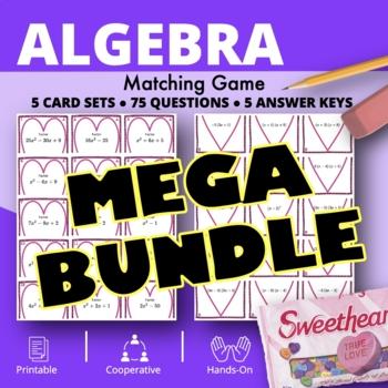 Valentine's Day Algebra BUNDLE: Matching Games