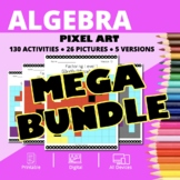Valentine's Day Algebra BUNDLE: Math Pixel Art Activities