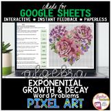 Valentine's Day Math Algebra Digital Pixel Art Exponential