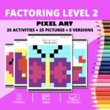 Valentine's Day: Algebra Factoring #2 Pixel Art Mystery Pictures