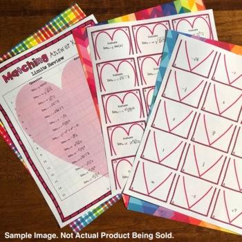 Valentine's Day: Algebra Factoring #3 Matching Game