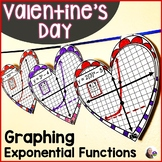 Valentine's Day Algebra Graphing Exponential Functions Mat