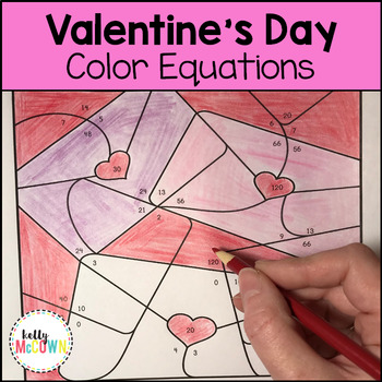 Valentine's Day Algebraic Expressions & Equations Coloring Pages