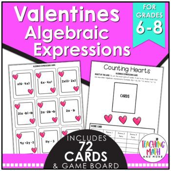 Valentine's Day Algebraic Expressions Game