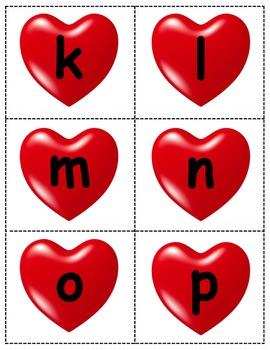 Valentine's Day Alphabet Cards
