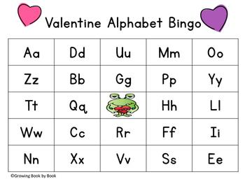 Valentine's Day Alphabet Bingo