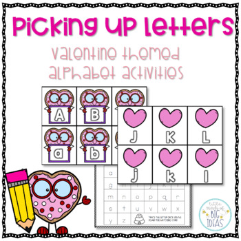 Valentine's Day Alphabet Card Activities : Letter Recognition and Handwriting