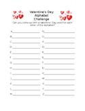 Valentine's Day Alphabet Challenge