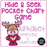 Valentine's Day Alphabet Hide and Seek Pocket Chart Game - Moose