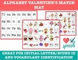 Alphabet Match Mat Valentine's Day Activity