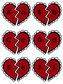 Valentine's Day Alphabet Matching Game