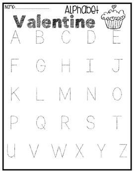 Valentine's Day Alphabet Sensory Bin Center