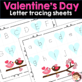Valentine's Day Alphabet Tracing Mats for Preschool and PreK