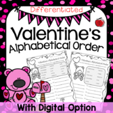 Valentine's Day Alphabetical (ABC) Order - Differentiated