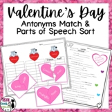 Valentine's Day Antonyms and Parts of Speech