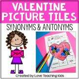 Valentine's Day Antonyms and Synonyms Secret Picture Tiles