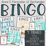 Valentine's Day Area & Perimeter of Rectangles BINGO