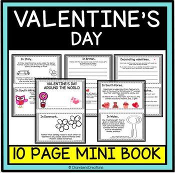 Valentine's Day Around the World- 10 page MiniBook
