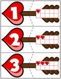 Valentine's Day Arrow Ten Frame Matching Activity