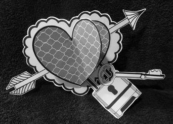 Valentine's Day Art Activities: 3D Hearts Valentine's Day Craft Activity - BW