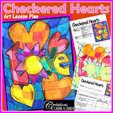 Valentine's Day Art Activity: Checkered Hearts‏