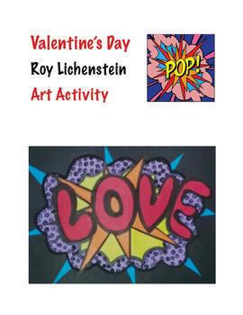 Valentine's Day Art Activity - Roy Lichenstein