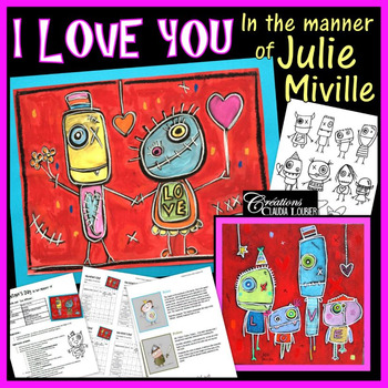 Valentine's Day : Art Project in the Manner of Julie Mivil