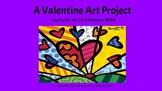 Valentine's Day Art, Bulletin Board, Substitute, Heart, Fe