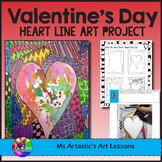 Valentine's Day Art Lesson, Heart Line Art