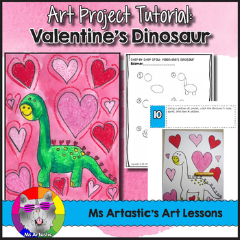 Valentine S Day Art Lesson Dinosaur By Ms Artastic Tpt