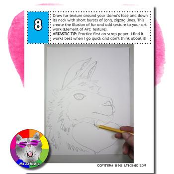 Valentine's Day Art Project, Llama Love