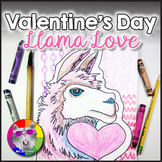 Valentine's Day Art Project, Llama Love