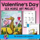 Valentine's Art Lesson, Sea Horse with Hearts