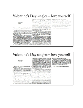 Valentine's Day Article