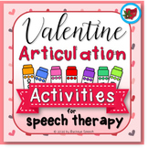 Valentine's Day Articulation Activities for Speech Therapy