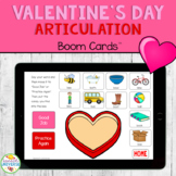 Valentine's Day Articulation BOOM Cards for Speech Therapy