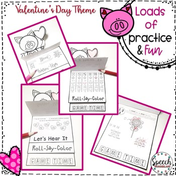 Valentine's Day Articulation Fun Flips - Activity Book