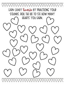 Valentine's Day Articulation Game (No Prep!)