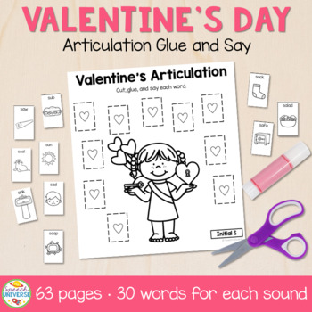 Glue and Say Articulation: Valentine's Day