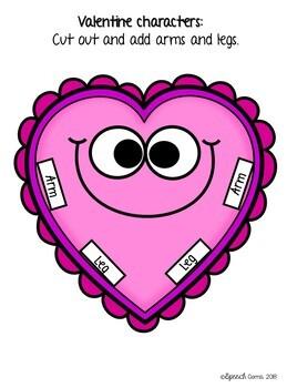 Valentine's Day Articulation & Language Heart Craft