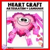 Valentine's Day Articulation and Language Heart Craft